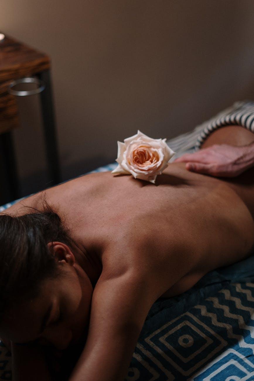 lady on massage table